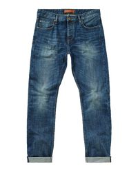 Label Lab | Blue Dart Taper Leg Vintage Wash Jean for Men | Lyst