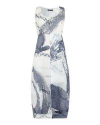 Crea Concept - Blue Printed Vest Dress - Lyst