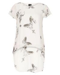 Izabel London - White Butterfly Print Top - Lyst