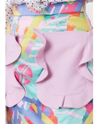 House of Holland - Multicolor Nova Print Mini Skirt - Lyst