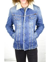 Nudie Jeans | Lenny Tangerine Blue Denim Jacket for Men | Lyst