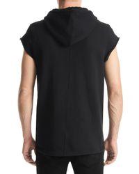Hudson - Black Sleeveless Pullover Hoodie for Men - Lyst