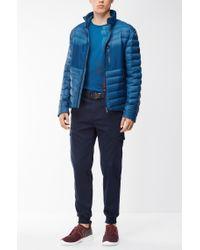 BOSS Green | Blue Regular-fit T-shirt In Stretch Single Jersey for Men | Lyst