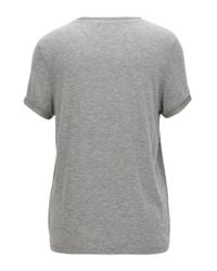 BOSS Orange - Gray Regular-fit T-shirt In Stretch-modal Jersey With Shimmer Effect - Lyst