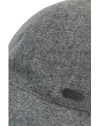 BOSS Green - Gray Wool-blend Baseball Cap for Men - Lyst
