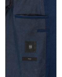 BOSS - Blue Extra-slim-fit Jacket In Stretch Virgin Wool for Men - Lyst