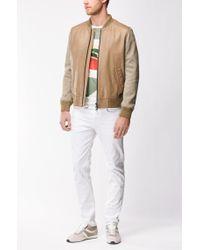 BOSS - Green Tropical-print Cotton Graphic T-shirt | Timen for Men - Lyst