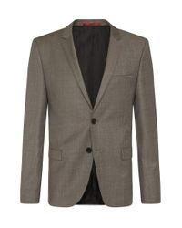 HUGO - Natural 'arti/helion' | Slim Fit, Virgin Wool Suit for Men - Lyst