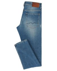 BOSS Orange - Blue Tapered-fit Jeans In Comfort-stretch Denim for Men - Lyst