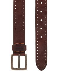 BOSS Orange - Brown Leather Belt With Brogue Detailing for Men - Lyst