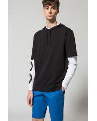 HUGO - Blue Stretch Cotton Short, Slim Fit   Hano for Men - Lyst