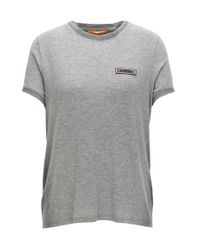 BOSS Orange | Gray Regular-fit T-shirt In Stretch-modal Jersey With Shimmer Effect | Lyst
