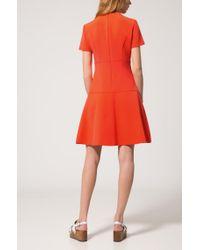 HUGO - Orange Short-sleeved Dress In Stretch Fabric - Lyst
