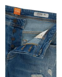 BOSS Orange | Blue Tapered-fit Jeans In Comfort-stretch Denim for Men | Lyst