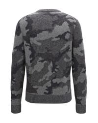 BOSS Orange | Multicolor Knitted Sweater With 3d Camouflage Pattern for Men | Lyst