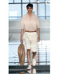 BOSS - Natural High Waisted Pleated Shorts | 'anker' for Men - Lyst