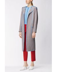 BOSS - Blue Virgin Wool Cardigan | Fuyuma - Lyst