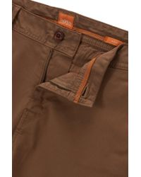 BOSS Orange - Natural Slim-fit Chinos In Brushed Stretch Cotton for Men - Lyst