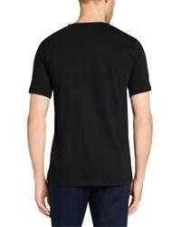 HUGO - Black Plain Slim-fit T-shirt In Cotton: 'danny' for Men - Lyst