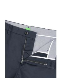 BOSS Green - Blue Regular-fit Trousers In Stretch Cotton: 'c-crigan2-15-w' for Men - Lyst