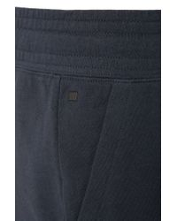 BOSS - Blue Cotton Sweat Trousers With Contrasting Details: 'long Pant Cuffs' for Men - Lyst