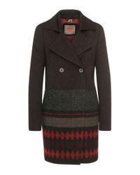 BOSS Orange - Black 'ofrieda' | Cotton Wool Alpaca Blend Coat - Lyst