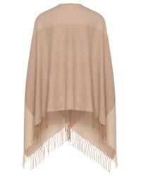 BOSS - Natural Blanket Poncho In New Wool Blend With Cashmere: 'latricia' - Lyst