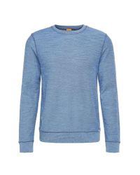 BOSS Orange | Blue Relaxed-fit Sweatshirt In Cotton Blend: 'woice' for Men | Lyst