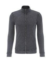 BOSS Orange | Black Slim-fit Sweatshirt Jacket In Cotton: 'zantana' for Men | Lyst