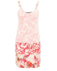 BOSS Orange | Pink Relaxed-fit 3-in-1 Strap Dress In A Viscose Blend With Silk And A Floral Print: 'citour' | Lyst
