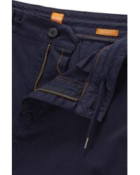 BOSS Orange - Blue Tapered-fit Cargo Trousers In Stretch Cotton for Men - Lyst