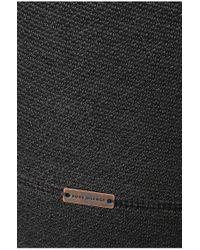 BOSS Orange | Black 'wysp' | Cotton Raw-edge Hooded Sweatshirt for Men | Lyst