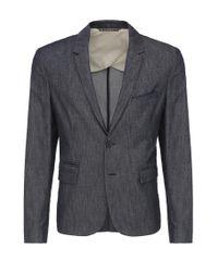 BOSS Orange - Blue 'bait' | Slim Fit, Stretch Cotton Blend Sport Coat for Men - Lyst