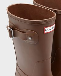 Hunter Brown Original Short Wellington Boots