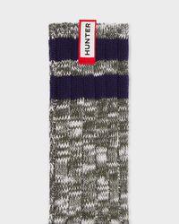 Hunter - Green Unisex Original Mouline College Knitted Socks for Men - Lyst