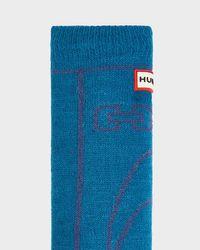 Hunter - Blue Original Boot Slipper Socks for Men - Lyst