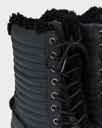 HUNTER - Black Original Shearling Pac Boots - Lyst