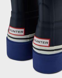 HUNTER - Multicolor Women's Original Buoy Stripe Ankle Boots - Lyst