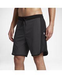 """Hurley Black Phantom Motion Stripe 18"""" Board Shorts for men"""