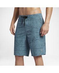 "Hurley Blue Phantom Jjf 3 Maps Heather 20"" Board Shorts for men"
