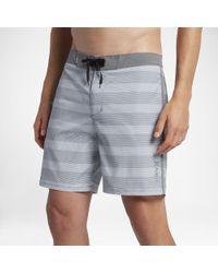 """Hurley Gray Beachside Windsor 18"""" Board Shorts for men"""