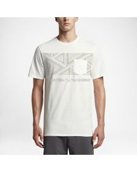 Hurley White Fading Out Pocket T-shirt for men