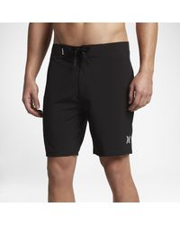 "Hurley Black Phantom One And Only 18"" Board Shorts for men"