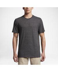 Hurley Gray Tri-blend Staple T-shirt for men