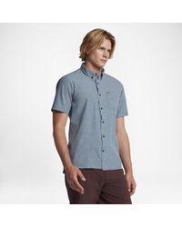 Hurley Blue Alchemy Short Sleeve Shirt for men