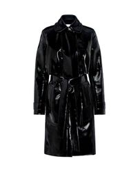 Carven | Black Patent Trench Coat | Lyst