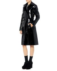 Carven - Black Patent Trench Coat - Lyst