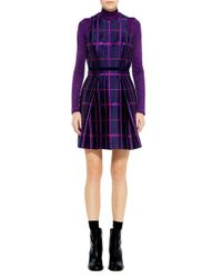 Carven - Multicolor Tartan Jacquard Dress - Lyst
