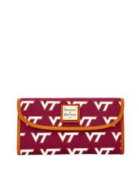 Dooney & Bourke - Red Ncaa Virginia Tech Continental Clutch - Lyst