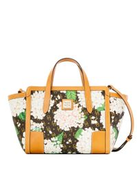 Dooney & Bourke White Signature Hydrangea Small Shopper